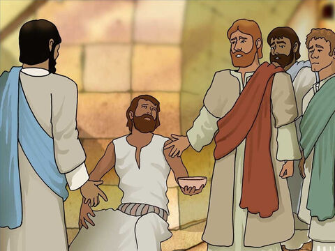 Jesus told the disciples, 'It was neither that this man sinned, nor his parents; but it was so that the works of God might be displayed in him.' – Slide 3