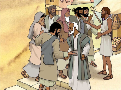 He washed in the pool of Siloam, was healed and could see. Not even his friends, who knew him as a beggar, could believe that it was the same man. He kept trying to convince them that he was once blind. – Slide 7