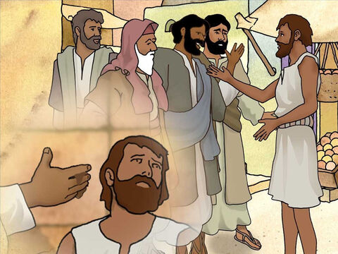 The healed man told them how Jesus made clay, put it on his eyes and told him to go to Siloam and wash. He did as Jesus told him and was healed. So they asked him, 'Where is He? And he replied, 'I do not know.' – Slide 8