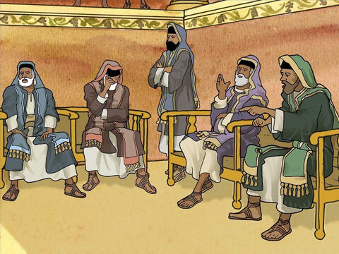 The Pharisees asked the healed man what he thought of Jesus. He said, 'He is a prophet.' But some Pharisees thought Jesus was a sinner because He healed on the Sabbath, so He could not be from God. – Slide 10
