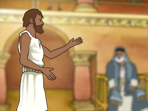 A second time they questioned the healed man. He told them 'Whether He is a sinner, I do not know; one thing I do know; that though I was blind, and now I see. If this man were not from God, He could do nothing.' – Slide 12
