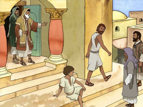 The Pharisees were outraged. They told the blind man that he was a follower of a sinner but they were followers of Moses. Then they threw him out of the synagogue because he too was a sinner. – Slide 13
