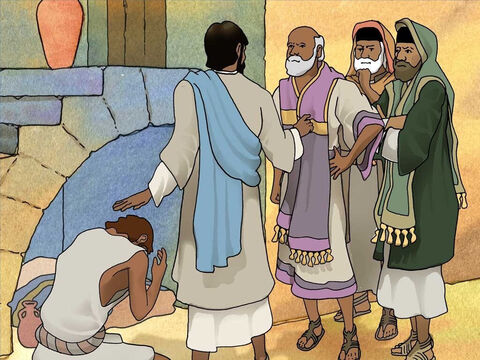 Jesus then said to the Pharisees; 'For judgment I came into this world, so that those who do not see may see, and that those who see may become blind.' – Slide 15