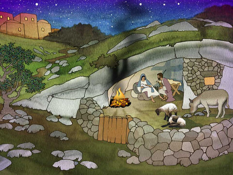 'While they were there, the time came for her to give birth. And she gave birth to her firstborn son; and she wrapped Him in cloths, and laid Him in a manger, because there was no room for them in the inn.' Luke 2:6-7 (NASB) – Slide 15