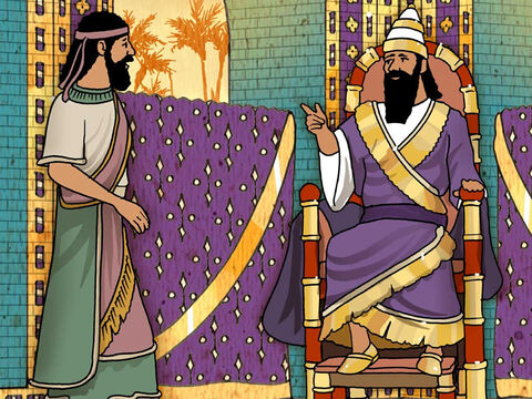 King Nebuchadnezzar chose handsome and very intelligent young Jewish men for his personal service. Daniel was one of those chosen. King Nebuchadnezzar greatly valued the service of Daniel. The king praised Daniel and his God above all others. (Daniel 1 and 2). – Slide 4