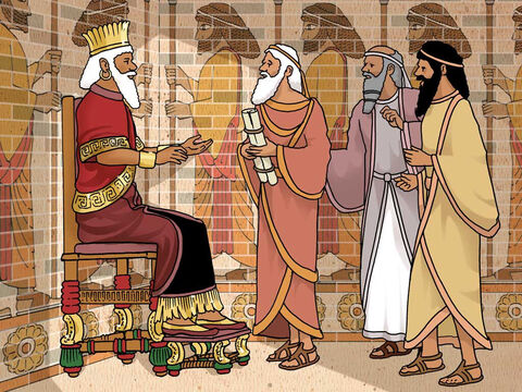 """'Now, O king, establish the injunction and sign the document so that it will not be changed, according to the law of the Medes and Persians, which may not be revoked.' Thereupon, King Darius signed the document, that is, the injunction."""" Daniel 6:8-9 (NASB) – Slide 9"""