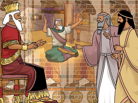 """'Then they responded and spoke before the king, """"Daniel, who is one of the exiles from Judah, pays no attention to you, O king, or to the injunction which you signed, but keeps offering his prayer three times a day.' Then, as soon as the king heard this statement, he was deeply distressed...""""' Daniel 6:13-14a NASB) – Slide 11"""