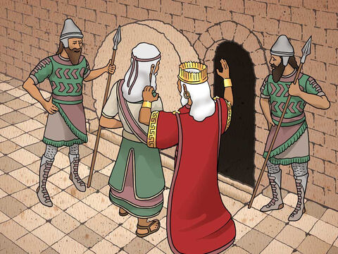 """'Then the king gave orders, and Daniel was brought in and thrown into the lions' den. The king said to Daniel, """"Your God whom you continually serve will Himself rescue you."""" And a stone was brought and placed over the mouth of the den.' Daniel 6:16-17 (NASB) – Slide 12"""
