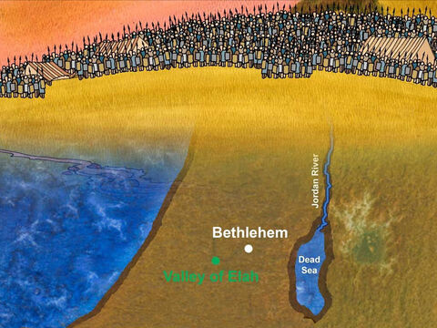 Saul led the soldiers of Israel against their strongest enemy the Philistines. 'Saul and the men of Israel were gathered and camped in the valley of Elah, and drew up in battle array to encounter the Philistines.' 1 Samuel 17:2 (NASB) – Slide 7