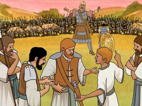 "'Then David spoke to the men who were standing by him, saying, ""What will be done for the man who kills this Philistine and takes away the reproach from Israel? For who is this uncircumcised Philistine, that he should taunt the armies of the living God?""' 1 Samuel 17:26 (NASB) – Slide 12"