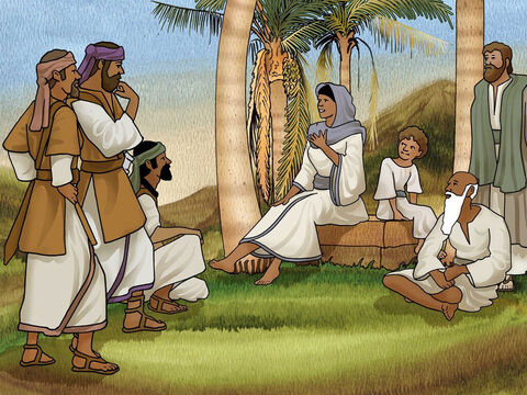 Bible story - Judges 4.<br/>In those days there was a woman prophetess who judged over the people. Her name was Deborah and she lived in the hill country of Ephraim. People were willing to travel up into the hills for her guidance from God. – Slide 8