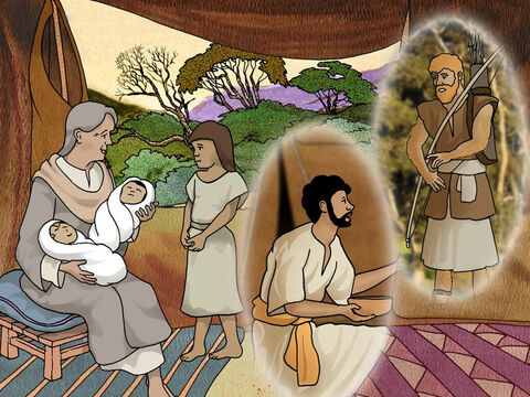 When the boys grew up, Esau became a skillful hunter, a man of the field, but Jacob was a peaceful man, living in tents. Now Isaac loved Esau, because he had a taste for game, but Rebekah loved Jacob. (Genesis 25:27-28 - NASB) – Slide 2