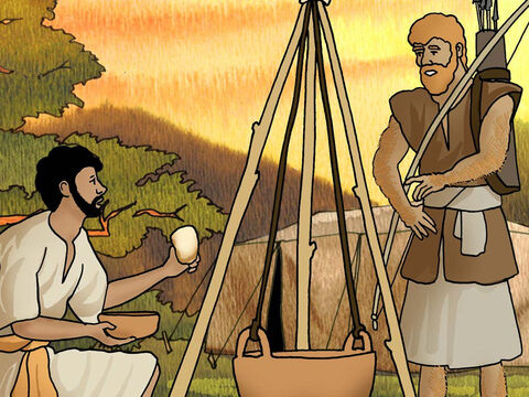 Isaac said, 'Behold, I am about to die; so of what use then is the birthright to me?' <br/>And Jacob said, 'First swear to me'; so he swore to him, and sold his birthright to Jacob. Then Jacob gave Esau bread and lentil stew; and he ate and drank, and rose and went on his way. Thus Esau despised his birthright. (Genesis 25:32-34 - NASB) – Slide 4