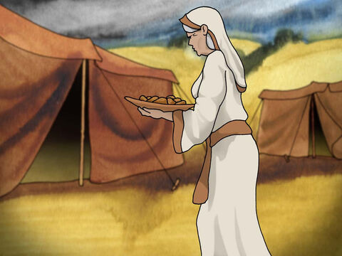 Rebekah prepared the food, took Esau's best clothes for Jacob and put skins of young goats on Jacob's hands and on the smooth part of his neck. Jacob left his mother to present the meal to Isaac and told him that he was Esau. (Genesis 27:6-19 - NASB) – Slide 7