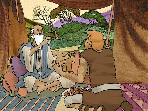 Very soon after Jacob left his father. Esau came along with the meal he prepared for his dad. Both Isaac and Esau were shocked to realise that Jacob had already received the blessing. Esau was furious and vowed to kill his brother Jacob. (Genesis 27:30-41) – Slide 9