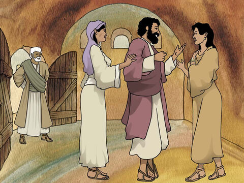 God continued to guide Jacob to his mother's homeland. There he fell in love with his Uncle Laban's daughter Rachel. Laban was full of tricks like his sister Rebekah so he managed to trick Jacob into marrying both Rachel and her sister Leah. (Genesis 29:1-29) – Slide 12