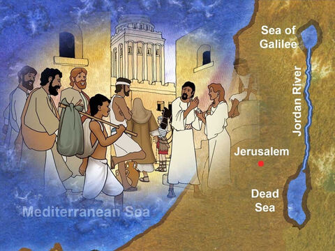 Jesus was a devout Jew. He traveled with His disciples to Jerusalem to celebrate a traditional Jewish feast. When Jesus was in the city of Jerusalem He visited a very special place called Bethesda. – Slide 1