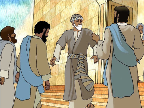 Later, Jesus found the healed man in the temple area. Jesus told him, 'Look, you have become well; do not sin anymore, so that nothing worse happens to you.' The man went and told the Jews that Jesus had healed him. – Slide 7