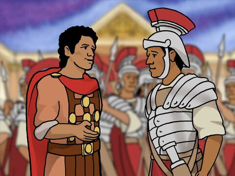 Although the Centurion was a very powerful man he was also humble. God likes humble people. The Centurion believed that Jesus had the authority from God to heal people. – Slide 8