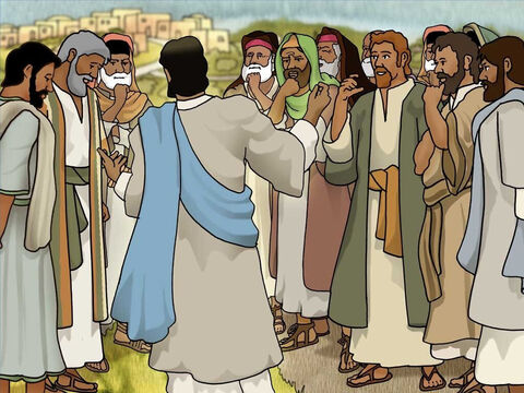 Jesus was amazed when He heard this. He turned to the crowd of people following Him and said, '...not even in Israel have I found such great faith.' The Centurion believed in Jesus and God's power. – Slide 10