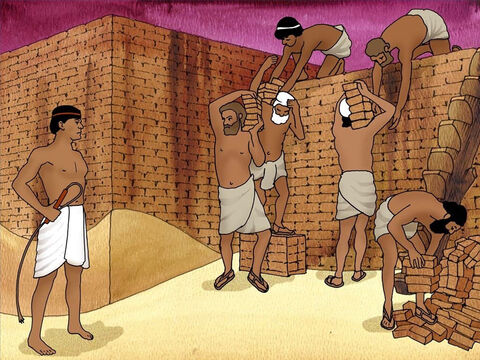 Thousands of years ago the Hebrew people (Jews) whom God loved were slaves in Egypt. They were cruelly treated for hundreds of years. God heard their prayers and sent Moses to free the Hebrews from bondage (Exodus 3). – Slide 2