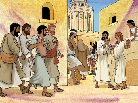 Jesus told Peter and John to go find a place for them to celebrate the Passover. They asked, 'Where do we find it? He told them, 'A man will be carrying a pitcher of water; follow him into the house that he enters.' Luke 22:10. – Slide 8