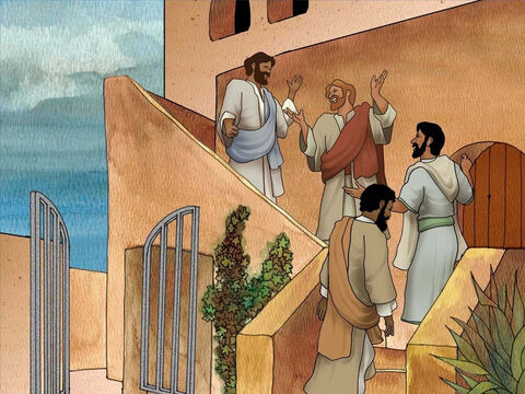 """'And you shall say to the owner of the house, """"The Teacher says to you, 'Where is the guest room in which I may eat the Passover with My disciples?""""' And he will show you a large, furnished upper room; prepare it there.' Luke 22:11-12. – Slide 9"""