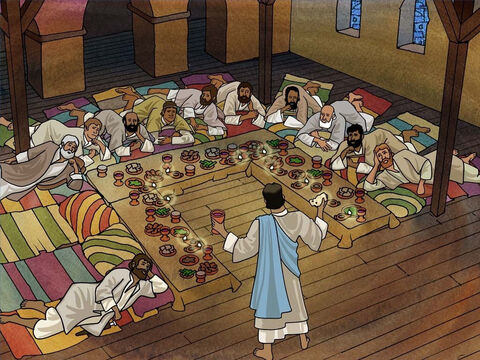 Jesus knew that He would be crucified soon. During the Passover He took some bread, gave thanks, broke it and gave it to them, saying, 'This is My body which is given for you; do this in remembrance of Me.' Luke 22:19. – Slide 10