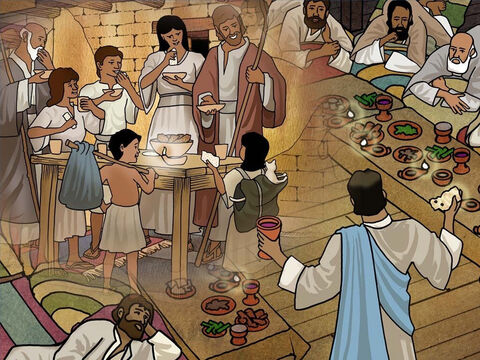 Both the Passover and the Last Supper that Jesus had with His disciples are linked. God planned it this way so that we would remember Him and that He is the God that seeks and saves the lost. Luke 19:10. – Slide 13