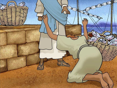 Peter told Jesus: 'Go away from me Lord, for I am a sinful man!' Peter and his companions were amazed with Jesus' holiness and power. Peter also recognized his sinfulness. Jesus was beginning to reveal Himself to them. – Slide 8