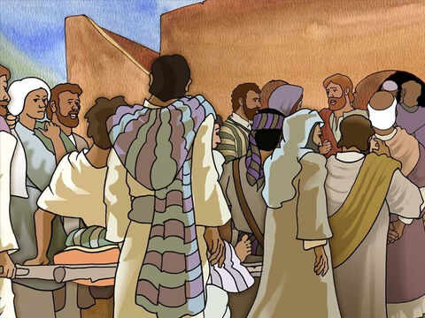 Jesus was very popular and drew many people so it was very hard for even the most needy to get close to Jesus for help. These friends could not get the lame man into the house to see Jesus because it was crowded. – Slide 3