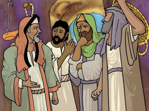 That shocked the religious leaders and the people. The scribes and Pharisees said to one another, 'Who is this man who speaks blasphemies? Who can forgive sins, but God alone?' They were correct in saying this. – Slide 6
