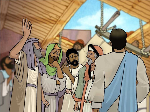 """Then Jesus, knowing what the scribes and Pharisees were saying to one another, told them; 'Which is easier, to say, """"Your sins have been forgiven you,"""" or to say, """"Get up and walk""""?' – Slide 7"""