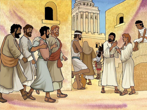 Although Jerusalem is Israel's capital, the Romans rule Israel. The Passover has brought crowds of visitors to Jerusalem. Jesus tells the disciples to find a man carrying a water jug who will lead them to where they will have the Passover meal. (Mark 14:12-16) – Slide 2