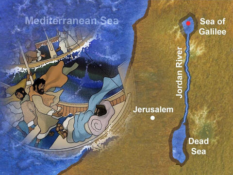 Jesus continued His ministry around the Sea of Galilee. Sometimes it became very difficult for Jesus and His disciples because of the large groups of people crowding around them. – Slide 1