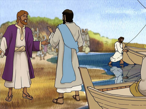 A scribe realised what Jesus was about to do. So he told Jesus that he would follow Him anywhere. Jesus said; 'The foxes have holes and the birds of the air have nests, but the Son of Man has nowhere to lay His head.' – Slide 3