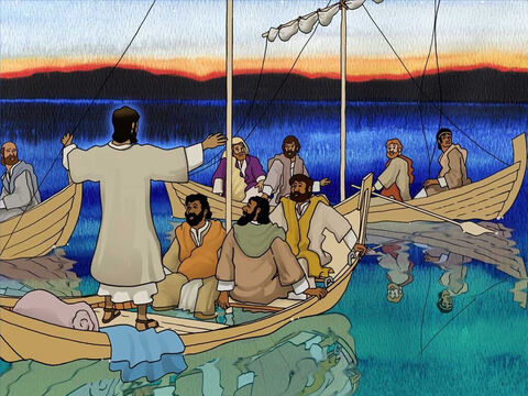 The disciples experienced a terrible trial in their lives and God was with them but they had been overcome by fear. In amazement they exclaimed, 'What kind of man is this, that even the winds and the sea obey Him?' – Slide 10