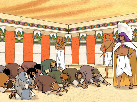 The sons of Israel went to Egypt to buy grain. Now Joseph was the ruler over the land; he was the one who sold to all the people of the land. And Joseph's brothers came and bowed down to him with their faces to the ground. Genesis 42:6 (NASB) – Slide 2