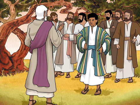 Now Israel loved Joseph more than all his sons, because he was the son of his old age; and he made him a varicolored tunic. His brothers saw that their father loved him more than all his brothers; and so they hated him and could not speak to him on friendly terms. Genesis 37:3-4 (NASB) – Slide 1