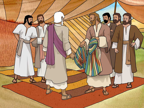 So they took Joseph's tunic, and slaughtered a male goat and dipped the tunic in the blood; and they sent the multi-colored tunic and brought it to their father and said, 'We found this; please examine it to see whether it is your son's tunic or not.' Genesis 37:31-32 (NASB) – Slide 7