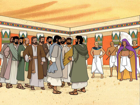 The brothers, including Benjamin, returned to Joseph in Egypt. When Joseph saw Benjamin with them, he said to his house steward, 'Bring the men into the house, and slay an animal and make ready; for the men are to dine with me at noon.' The brothers were afraid and told Joseph's servant... Genesis 43:16 (NASB) – Slide 2