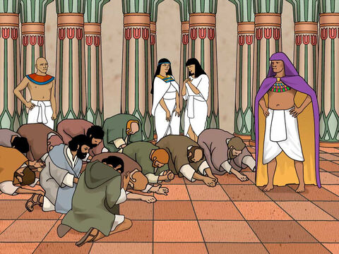 The brothers were escorted into the room for the meal. Joseph entered. They bowed down in homage. As he lifted his eyes and saw his brother Benjamin, his mother's son, he said, 'Is this your youngest brother, of whom you spoke to me?' And he said, 'May God be gracious to you, my son.' Joseph quickly left them to find a private place to weep. Genesis 43:28b-29 (NASB) – Slide 4