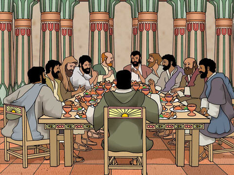 Joseph ate away from his brothers. Now they were seated before him, the firstborn according to his birthright and the youngest according to his youth, and the men looked at one another in astonishment. He took portions to them from his own table, but Benjamin's portion was five times as much as any of theirs.' Genesis 43:33-34a (NASB) – Slide 5