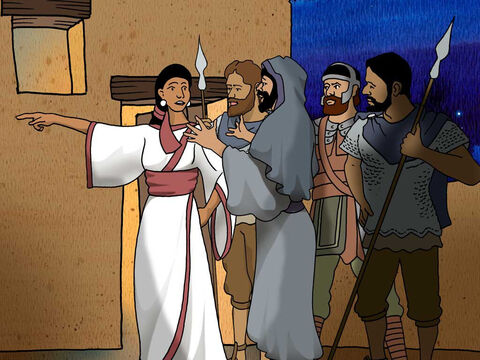 But Rahab had taken the two men and hidden them, and she said, 'Yes, the men came to me, but I did not know where they were from. It came about when it was time to shut the gate at dark, that the men went out; I do not know where the men went. Pursue them quickly, for you will overtake them.' Joshua 2:4-5 (NASB) – Slide 5