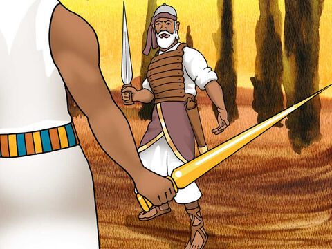 Now it came about when Joshua was by Jericho, that he lifted up his eyes and looked, and behold, a man was standing opposite him with his sword drawn in his hand, and Joshua went to him and said to him, 'Are you for us or for our adversaries?' <br/>He said, 'No; rather I indeed come now as captain of the host of the Lord.' Joshua 5:13-14a (NASB) – Slide 15