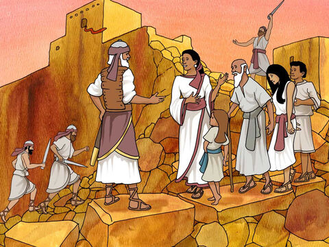 After the battle they burned the city and cursed anyone that would try to re-build it. 'However, Rahab the harlot and her father's household and all she had, Joshua spared; and she has lived in the midst of Israel to this day, for she hid the messengers whom Joshua sent to spy out Jericho.' Joshua 6:25 (NASB) – Slide 18