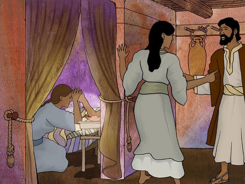 After Jesus left their home, Mary and Martha's brother Lazarus became gravely ill. Mary and Martha knew Jesus could heal Lazarus. They decided to send someone to find Jesus and ask for His help. – Slide 3