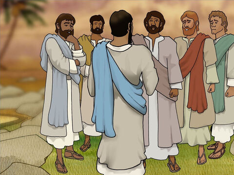 After two days He told His disciples, 'Let us go to Judea again.' The disciples knew that going to help Lazarus in Judea was very dangerous. They knew that Jesus' enemies were waiting near by in Jerusalem to take His life. – Slide 6
