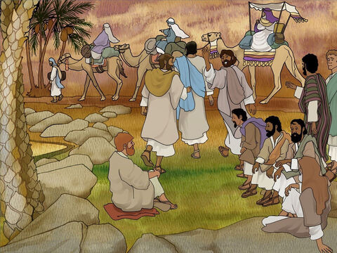 Off they went back to Mary, Martha and Lazarus' home (Bethany) close to the city where Jesus' enemies were hoping to put Him to death. At this time Lazarus had been buried in the tomb for four days. – Slide 8