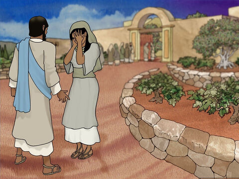 When they got to Bethany many Jews from Jerusalem were there also. Martha met Jesus and said 'Lord, if You had been here, my brother would not have died.' Jesus said to Martha 'Your brother will rise again.' – Slide 9